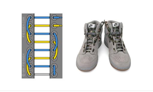 Buộc dây giày xổ dây kiểu xe đạp
