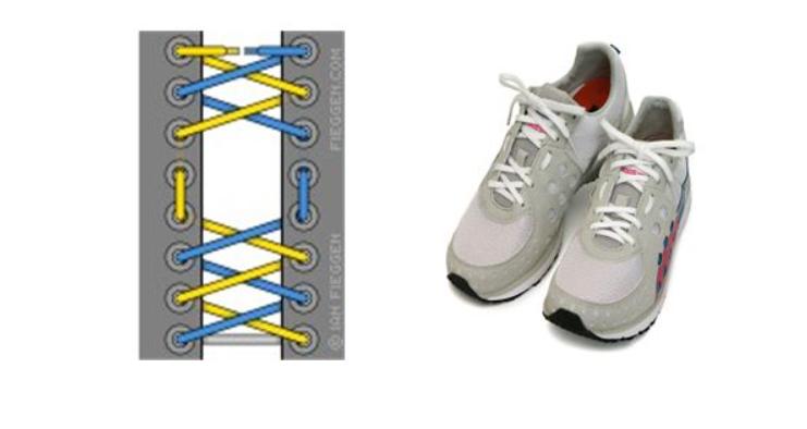 Kiểu xỏ dây giày tạo lỗ hở