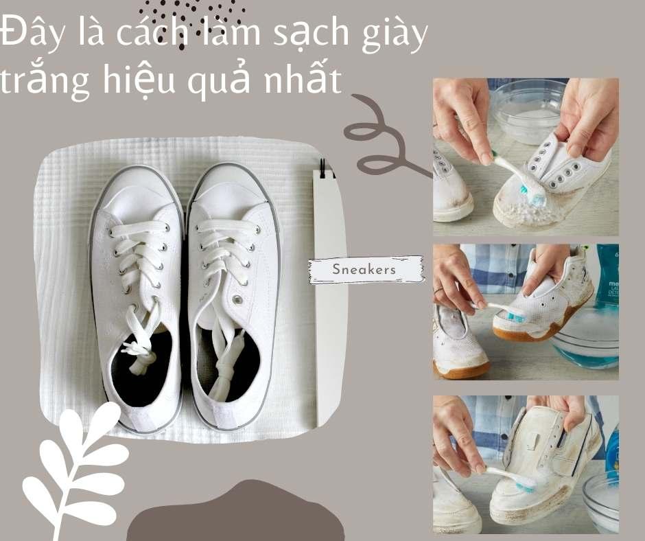 Những cách làm sạch giày trắng hiệu quả nhất