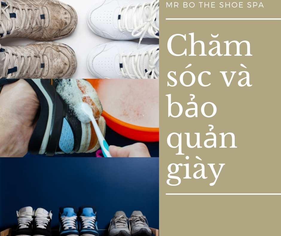 chăm sóc và bảo quản giày hiệu quả