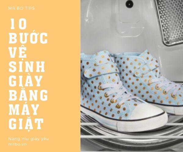 10 bước vệ sinh giày bằng máy giặt