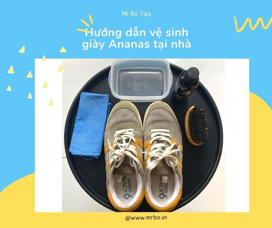 vệ sinh giày ananas